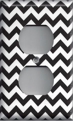 $6.50. My bathroom theme is black, pink, chevron, and damask. I want to get a mirror with a pattern frame, a double lightswitch cover, and an outlet cover. The outlet and lightswitch covers have to match. Not sure which pattern I want to get from each item but if one item (mirror) is chevron I want the others (covers) to be damask and vice versa.----Black & White Chevron Zig Zag Wall Outlet Cover