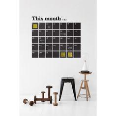 ferm Living Calendar Wallsticker// Love this idea for workspace//