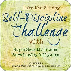 Are you joining the 21-Day Self-Discipline Challenge?