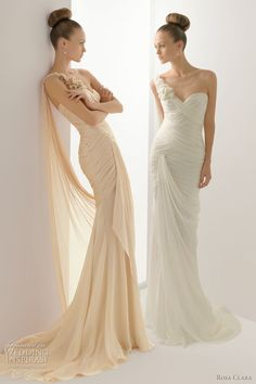 color wedding dresses 2012 rosa clara - hector