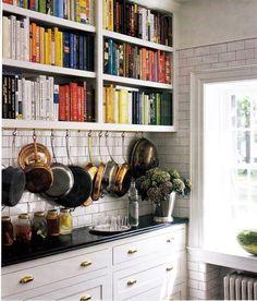kitchens, books, pot racks, cookbook, color