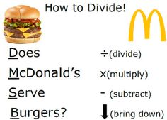 FREE poster to help teach long division!!