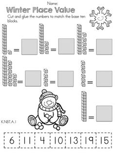 Kindergarten Common Core- (math common core) This is another way to due manipulatives but this on is with cutting, pasting, and matching instead of writing the numbers in. Both need to be worked on so I posted both.
