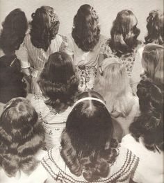 One from my own archives - backs of vintage hairdos.