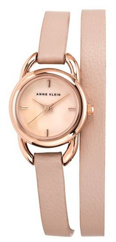 Rose gold wrap watch