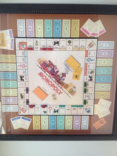Framed board game for play room