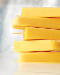 Creamy orange pops