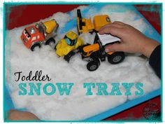 Toddler Snow Tray Activities