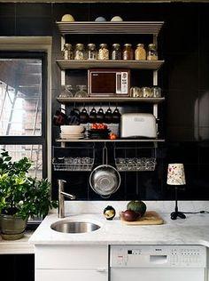 Dark kitchens - beautiful
