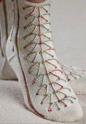 Anna Zilboorg's Fireworks Socks. Photograph by Joe Coca.