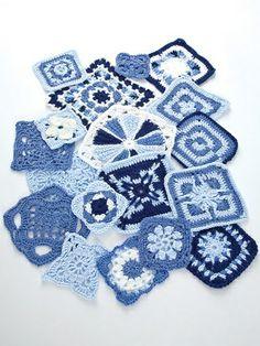 crochet squares or motif assortment