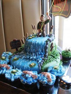 Stunning Fly Fishing Birthday Cake