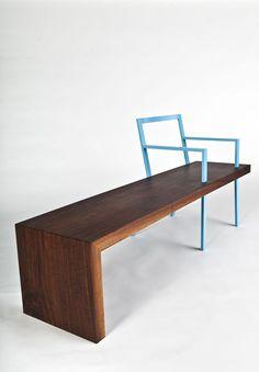 doc. ChaBench | walnut + iron | designed by skylar morgan furniture + design (SMFD)