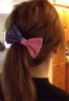 Red White  Blue Hair Bow on Etsy, $3.50
