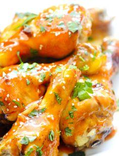 Baked Sriracha Honey Wings – Recipe Diaries