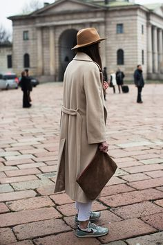 muted palette and some fresh kicks. Photo: The Sartorialist.