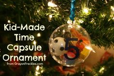 a new Christmas tradition! kid-made time capsule ornaments from CrayonFreckles.com