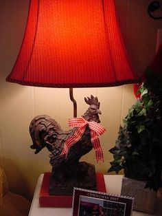 would love a rooster lamp in the kitchen