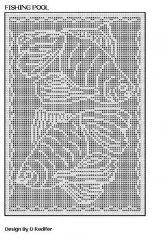 Free Filet Crochet Cat Patterns | Original Filet Crochet Pattern Fish Theme 006