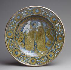 Dish  Date: ca. 1520 Culture: Italian (Deruta) Medium: Maiolica (tin-enameled earthenware)