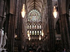 This is Westminster Abbey in England. I just want to walk down that long aisle :)