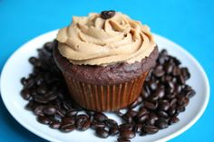 Chocolate Coconut Flour Cupcakes with Espresso Buttercream (Low Carb and Gluten Free) | All Day I Dream About Food