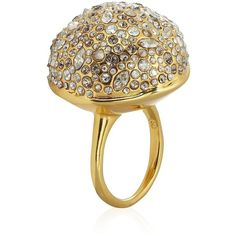Alexis Bittar Gold Sphere Ring ($130) found on Polyvore