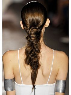 Kimberly Ovitz  A messy fishtail braid that looks like the most chic version of a dreadlock we've ever seen at Kimberly Ovitz.    Read more: Spring 2013 Runway Makeup - Spring 2013 Runway Beauty Looks - Marie Claire