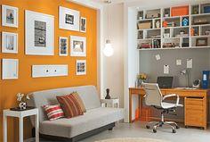 arquiteturadoimóvel: Home office e Quarto de Hóspedes