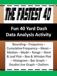 Data Charts and Graphs Activity - The Fastest 40 - FUN Statistics - 6th Grade Math - $1.99