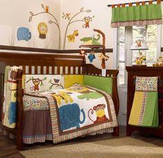 Colorful Jungle bedding