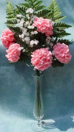 Crochet - Maggie's Crochet Free Carnations Pattern - Downloaded and printed