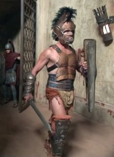 Gladiator, entering the arena.
