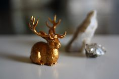 Jackalope. How to:  http://myevaforeva.blogspot.com/2012/02/diy-idea-jackalope.html