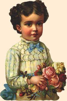 Victorian Scrap girl