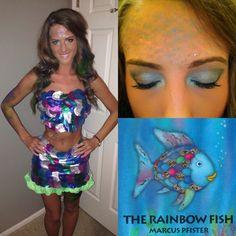 Rainbow fish DIY Halloween costume!