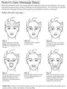 Facial instructions massage
