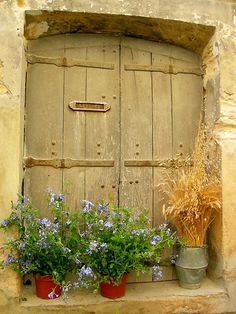 French Country letter boxes, blue flowers, shutter, stabl door, french country, garden, countri, bright colors, window boxes