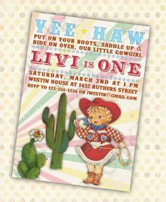 Vintage Cowgirl DIY Printable Little Girls by fanfare4kids on Etsy, $12.50