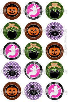 Halloween bottle cap images
