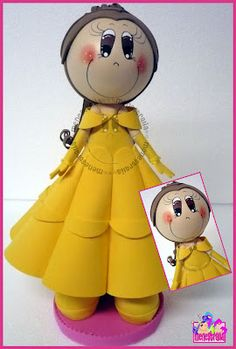 El Rincon Fofuchero: Fofuchas Princesas (con moldes)