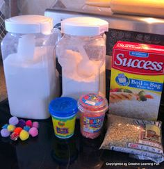 Sensory balloons - fill strong balloons with different materials; sugar, flour, rice, playdoh, sand, and knot. Could do two of each and make a sensory matching game. Good quiet time activity.
