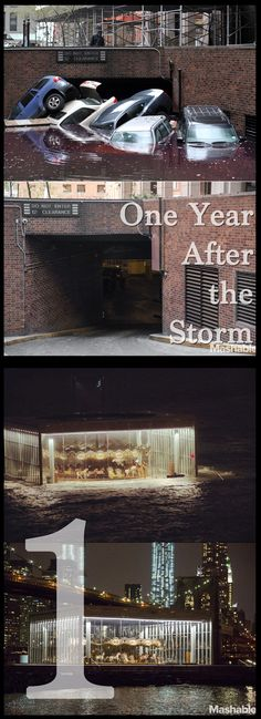 Some of the most shocking images from Hurricane Sandy, retaken one year later.