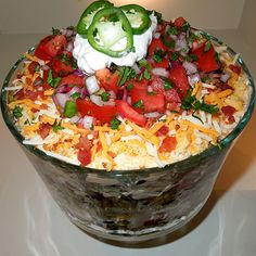 Layered Southwestern Cornbread Salad… this is awesome!