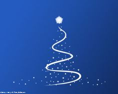 This Christmas Powerpoint Template has a blue background with a Christmas tree design in the slide