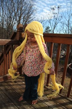 Rapunzel wig tutorial  Mikayla would LOVE this!  How long would it take until it's just a huge tangled mess? (ah!  pun not intended!)