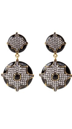 Pave Flower Earrings