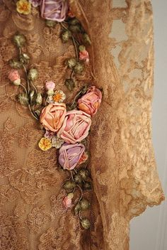 Vintage Silk Ribbon Embroidery