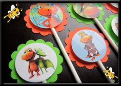 Dinosaur Train Inspired Cupcake Toppers