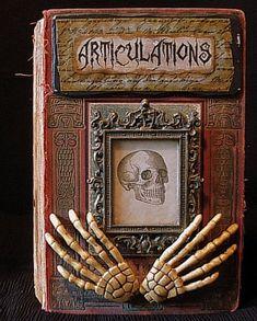 Halloween Altered Book Art